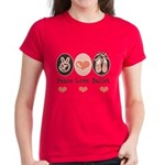 Peace Love Ballet Ballerina Women's Dark T-Shirt