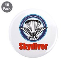 "Skydiver 3.5"" Button (10 pack)"