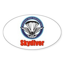 Skydiver Oval Decal