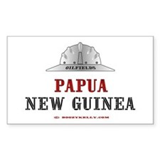 Papua New Guinea Oilfields Rectangle Decal