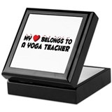 Belongs To A Yoga Teacher Keepsake Box