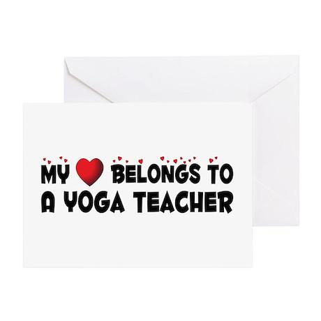 Belongs To A Yoga Teacher Greeting Card