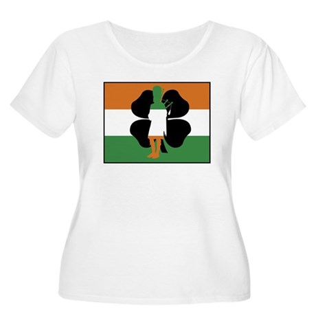 Irish Flag Women's Plus Size Scoop Neck T-Shirt