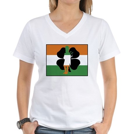 Irish Flag Women's V-Neck T-Shirt