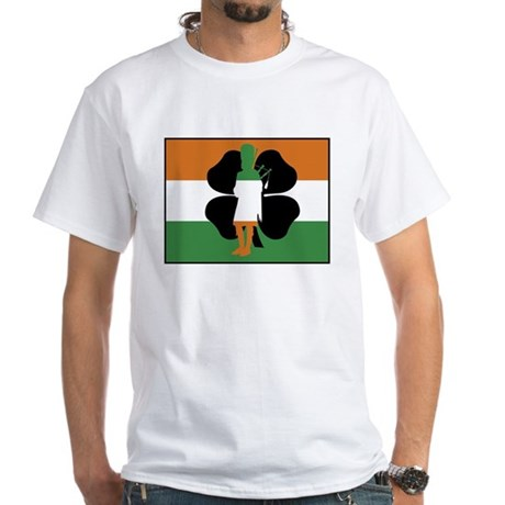 Irish Flag White T-Shirt