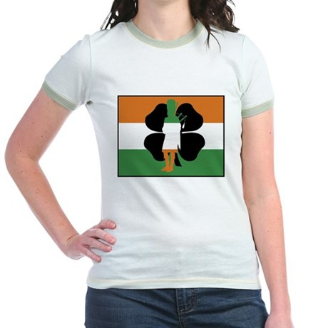 Irish Flag Jr. Ringer T-Shirt