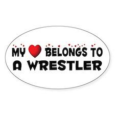 Belongs To A Wrestler Oval Decal
