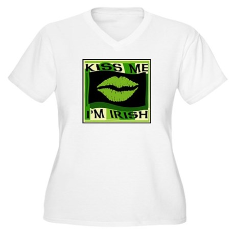 Kiss me I'm Irish Women's Plus Size V-Neck T-Shirt