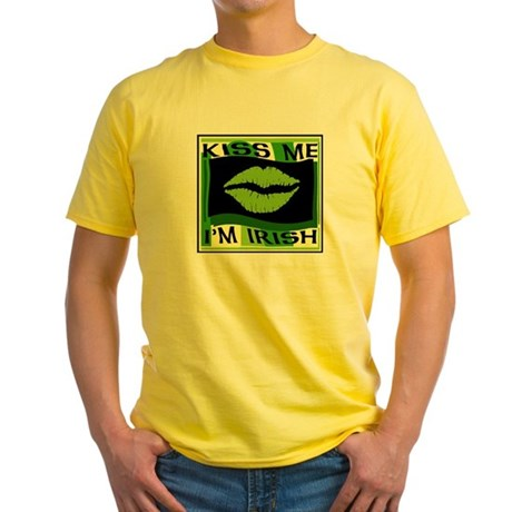 Kiss me I'm Irish Yellow T-Shirt