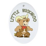 Little Buckaroo Bear Oval Ornament