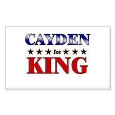 CAYDEN for king Rectangle Decal