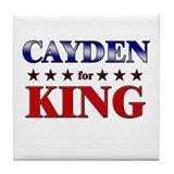 CAYDEN for king Tile Coaster