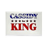 CASSIDY for king Rectangle Magnet (10 pack)