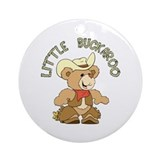 Little Buckaroo Bear Ornament (Round)