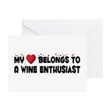 Belongs To A Wine Enthusiast Greeting Card
