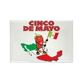 Cinco de Mayo Mexican Rectangle Magnet