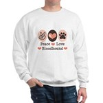 Peace Love Bloodhound Sweatshirt