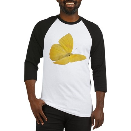 Yellow Butterfly Baseball Jersey