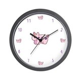 Pink Cow Wall Clock