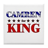 CAMREN for king Tile Coaster