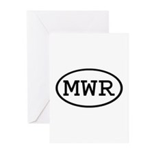 MWR Oval Greeting Cards (Pk of 10)