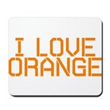 I LOVE ORANGE Mousepad