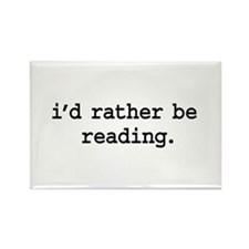 i'd rather be reading. Rectangle Magnet