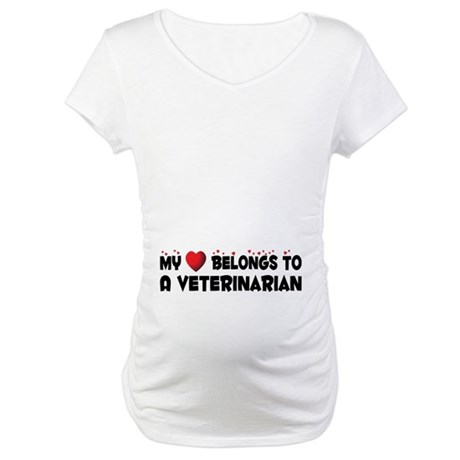 Belongs To A Veterinarian Maternity T-Shirt