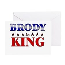 BRODY for king Greeting Cards (Pk of 10)