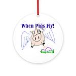 When Pigs Fly Keepsake (Round)