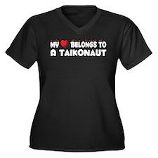 Belongs To A Taikonaut Women's Plus Size V-Neck Da