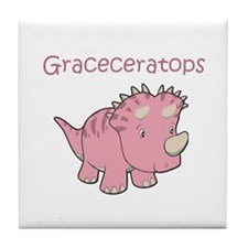 Graceceratops Tile Coaster