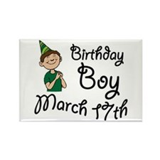 Birthday Boy March 17th Rectangle Magnet
