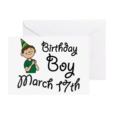 Birthday Boy March 17th Greeting Card