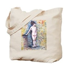 Tote Bag with painted nude