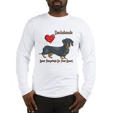 Dachshunds Leave Paw Prints Long Sleeve T-Shirt
