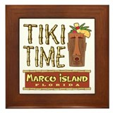 Marco Island Tiki Time - Framed Tile