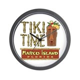 Marco Island Tiki Time - Wall Clock