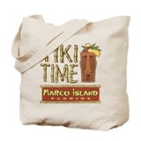 Marco Island Tiki Time - Tote or Beach Bag
