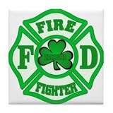Irish Fire Fighter Tile Coaster