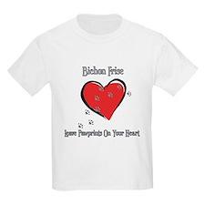 Bichon Frise Leave Paw Prints T-Shirt