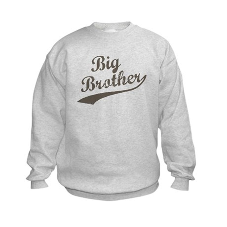 Big Brother (Brown Text) Kids Sweatshirt