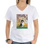 Spring / Collie Women's V-Neck T-Shirt