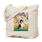 Spring / Collie Tote Bag