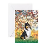 Spring / Collie Greeting Card