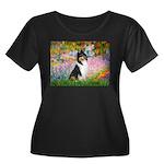 Garden / Collie Women's Plus Size Scoop Neck Dark