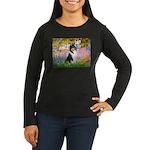 Garden / Collie Women's Long Sleeve Dark T-Shirt