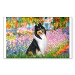 Garden / Collie Sticker (Rectangle)