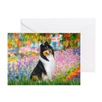 Garden / Collie Greeting Cards (Pk of 10)