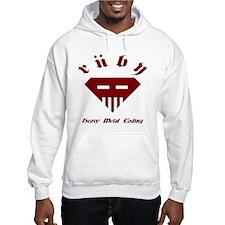 Speed-metal Ruby Hooded Sweatshirt
